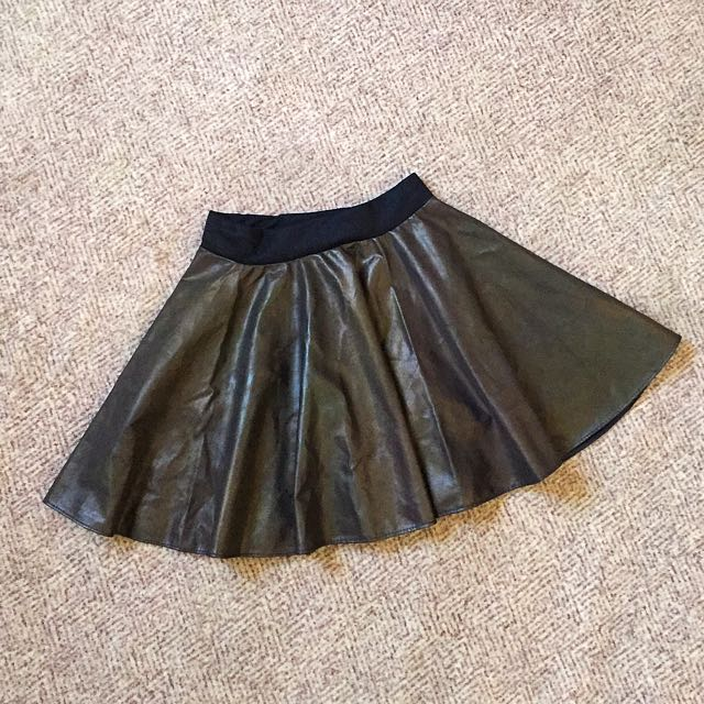 Skater Skirt (faux Leather)