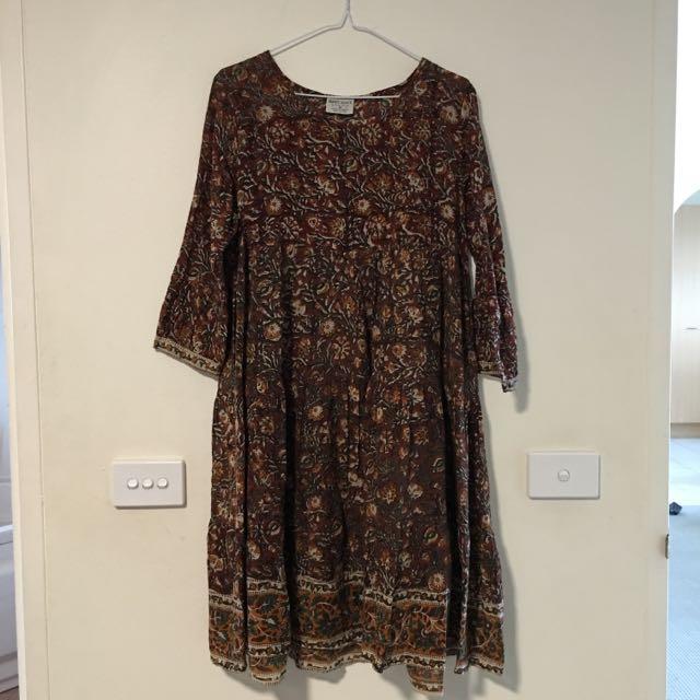 Tree of Life // Vintage Boho Style Dress