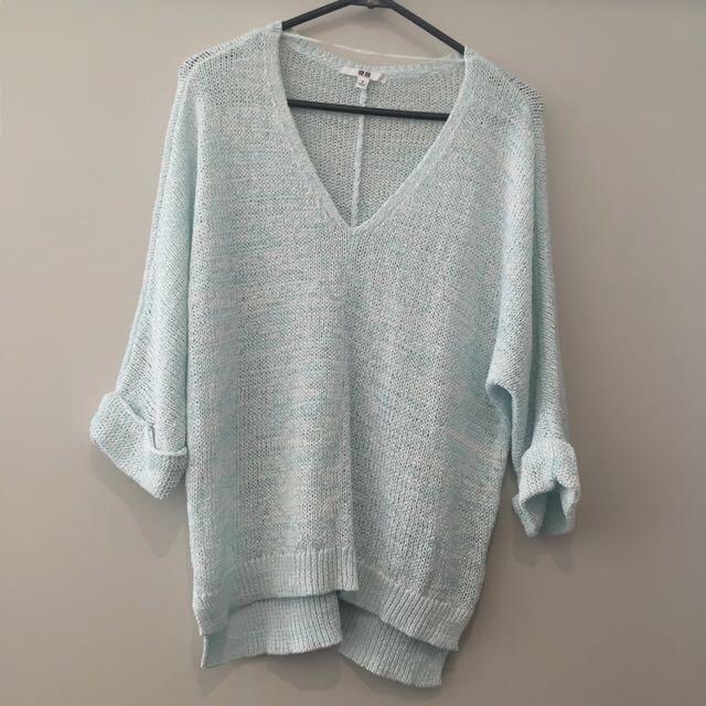 Uniqlo Blue Knit