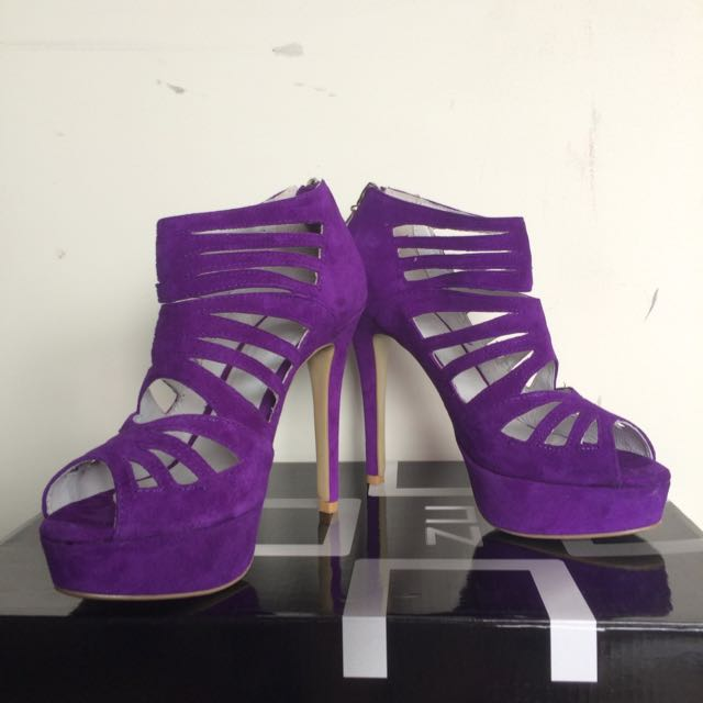ZU Shoes Violet Suede Stilettos