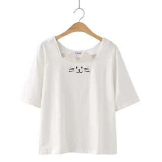 [PO] – Cute Cat Design Shirt Top *Classic*