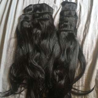 """BRAND NEW CASHMERE HAIR EXTENSIONS 20"""" CLIP IN AND 20"""" PONY TAIL"""