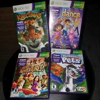 4 Xbox 360 Kinect Games