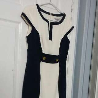 Navy/Cream Dress