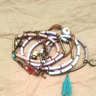Pull & Bear beads braclets