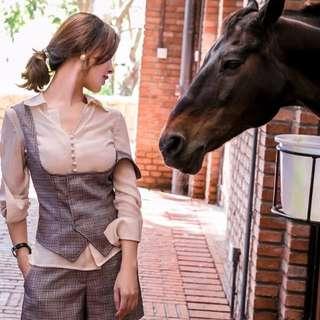 [PO] – 3 Pcs Premium Checkered Silk Vest Set *Classic 1*
