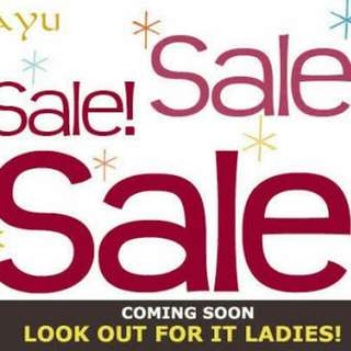 Sale is Coming Soon...