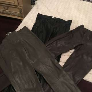 3 Pairs If Wilfred Faux Leather Pants Skinny