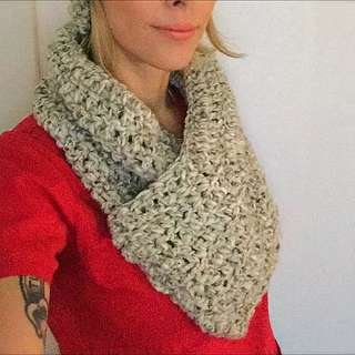 Handmade Cross-over Scarf (pull over)