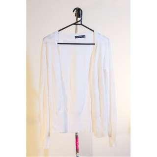 Size 8 White Glassons Cardigan