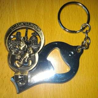 迪士尼 Disney 米奇老鼠 Mickey Mouse 鎖匙扣指甲鉗開瓶器三合一