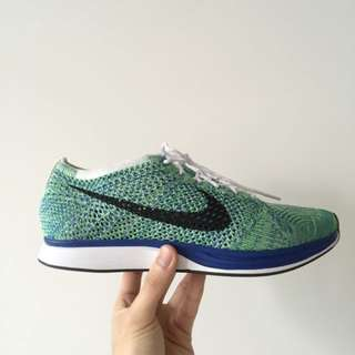 Nike Flyknit Racer - Tranquil / Sprite