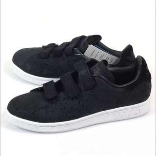 (新品出售) Adidas Stan Smith CFW 魔鬼氈 低筒復古休閒鞋 (黑S78905) (兩雙)