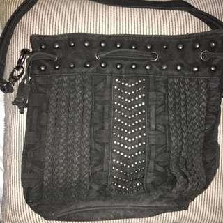 Agent Ninetynine Suede Medium Drawstring Bag