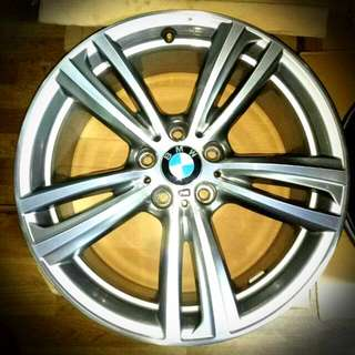 """Genuine (OEM) 19"""" BMW 4 series F32 F33 F36 Style 442 M double-spoke alloy wheels with Pirelli or Goodyear Runflat tyres (new)"""