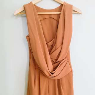 ASOS BROWN DRESS WITH BACK DETAILS