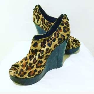 Animal Print Semi-boots Shoes