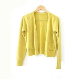 Lime Green Cardigan / Kardigan Hijau Kuning