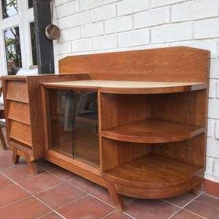 Vintage Teak Sideboard w louvred drawers