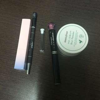 VDL變色唇膏01、Innisfree蜜粉
