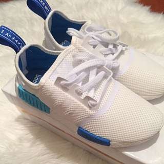 NMD White/blue Size US 5