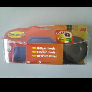 3M Command organizer, with a Scotch tape + dispenser inside (new, sealed)