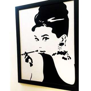 Audrey Hepburn Wall Art with Frame