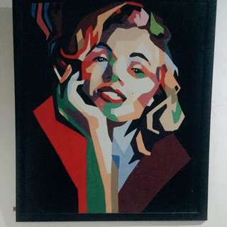 Marylin Monre Wallart With Frame