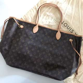 Auth LV Neverfull GM Monogram Canvas