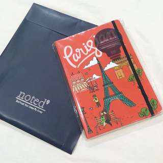 Noted Red Parisian Notebook