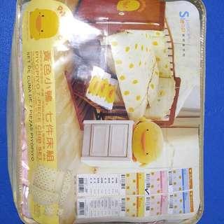 黃色小鴨(粉紅) PiYO PiYO 喜悅蛋七件式寢具