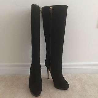 Authentic Michael Kors Black Suede Boots