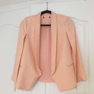 Cape Blazer In Blush Colour Size Small
