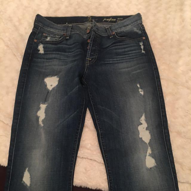 7 For All Man Kind Boyfriend Jeans