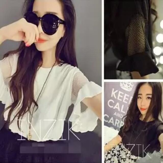 🌹韓系網紗簍空袖🌹