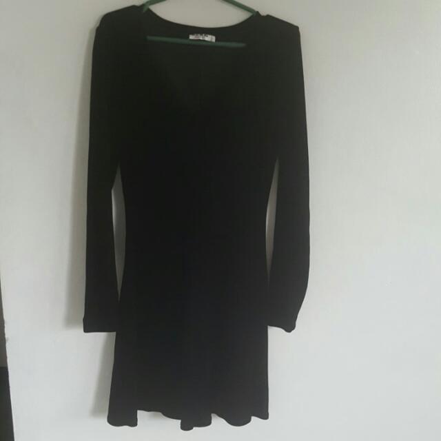 B.C.B.G. Black Sexy Velvet Dress