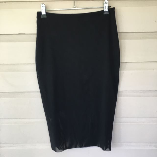 Bec and Bridge Black Pencil Skirt