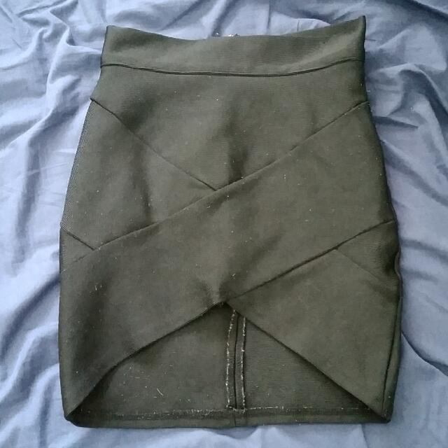 Black Bandage Miniskirt
