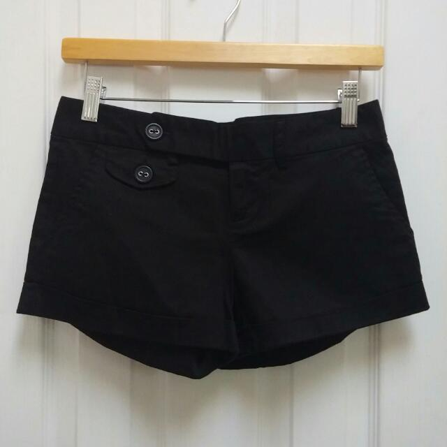 Black Dress Pants Material Shorts