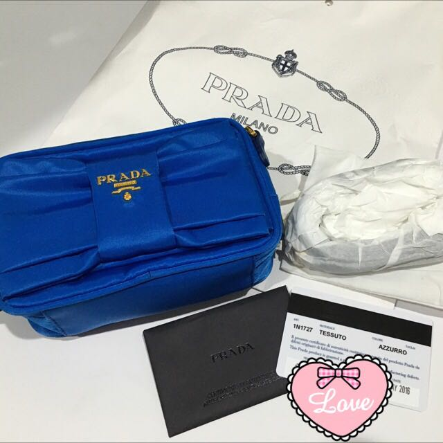 87ac11be30bf Brand New Prada Tessuto Nylon Bow Crossbody Bag, Luxury, Bags & Wallets on  Carousell