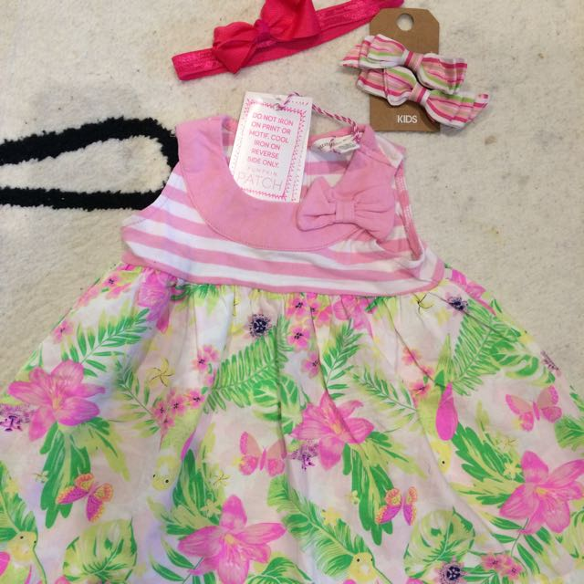 Brand New Summer Dress Size 00 & Headbands