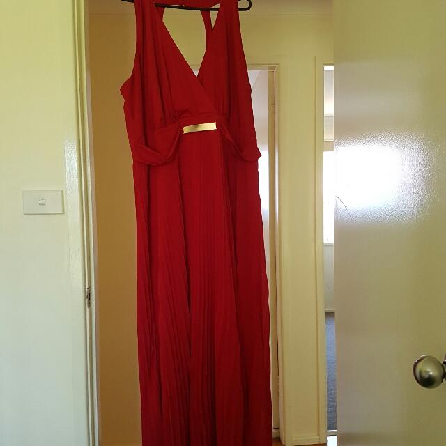 City Chic Red Maxi Dress Worn Once XL