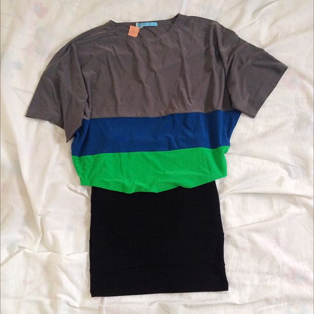 Color Blocked Top/ Skirt Bundle