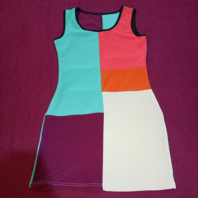 Colorblock simple Mini dress
