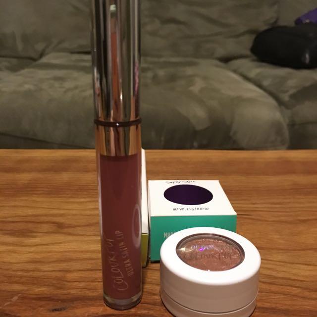 Colourpop Ultra Satin Lip In Dopey And Eyeshadow In Weenie