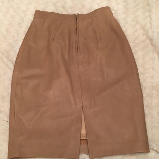 Danier Leather Pencil Skirt