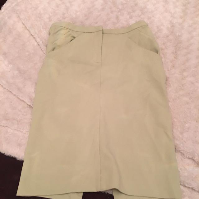 Diane Von Furstenberg Like Green Pencil Skirt