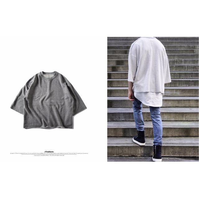 【F30】不修邊兩面穿七分袖 可兩面穿 新款 重磅 秋冬 Justin Bieber Kanye West 穿搭 必備