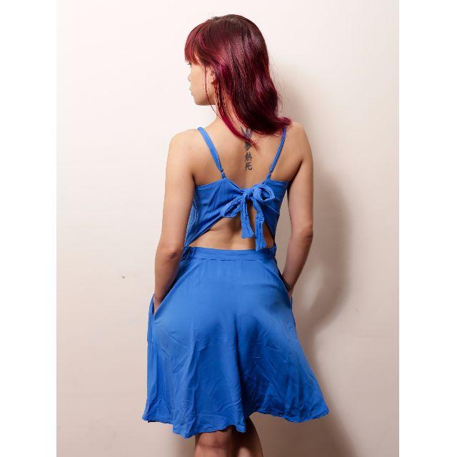 Folded & Hung Blue Dress with Pockets