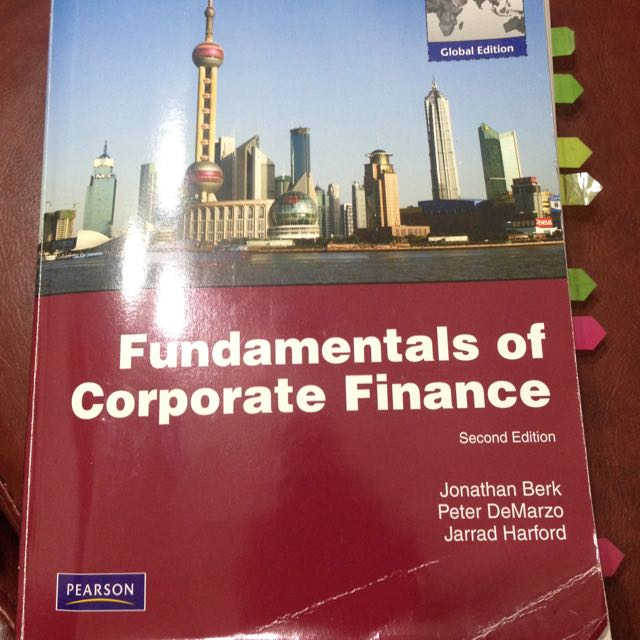 Fundamentals Of Corporate Finanace